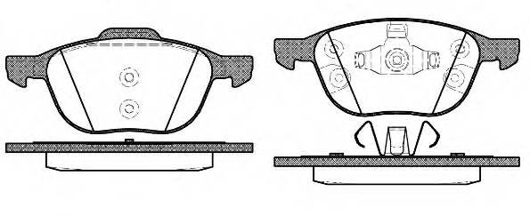 Тормозная система Гальмiвнi колодки, к-кт. PAGID арт. 2108230