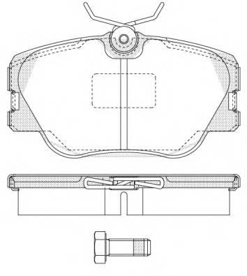 Тормозная система Гальмiвнi колодки, к-кт. PAGID арт. 218900