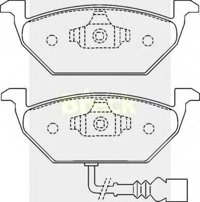 Гальмівні колодки, дискові ABE арт. 231310070210