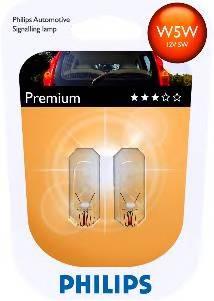 (к-кт 2шт)Лампа W5W 12V 5W W2.1X9.5D BlueVision Xenon effect упаковка блістер PHILIPS 12961B2