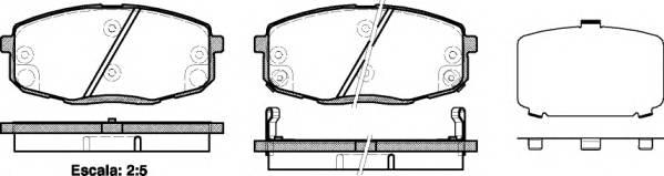 Тормозная система Гальмiвнi колодки, к-кт. ABE арт. 2103812