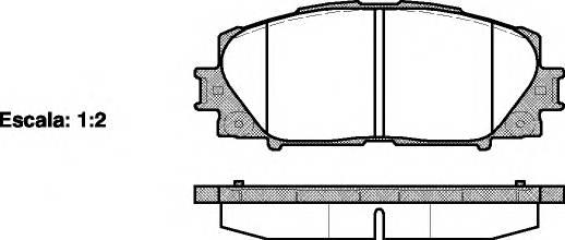 Тормозная система Гальмiвнi колодки, к-кт. ABE арт. 2122400