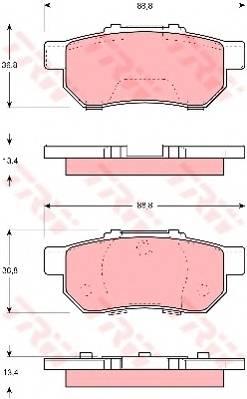 Тормозные колодки Тормозные колодки дисковые PAGID арт. GDB3113