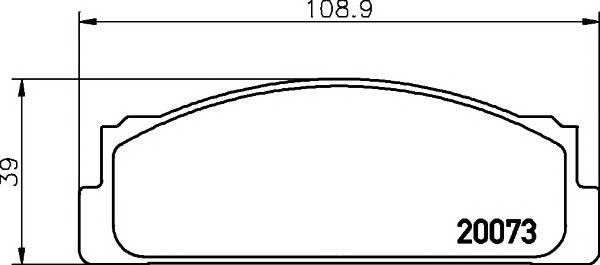 Тормозные колодки Тормозные колодки дисковые ABE арт. 2007304