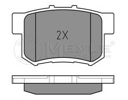 Тормозные колодки Тормозные колодки дисковые MEYLE арт. 0252171914W