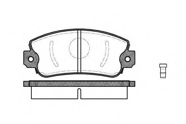 Тормозная система Гальмiвнi колодки, к-кт. PAGID арт. 237202