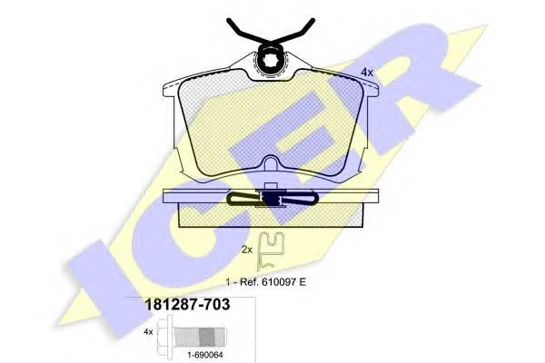Тормозные колодки Тормозные колодки дисковые PAGID арт. 181287703