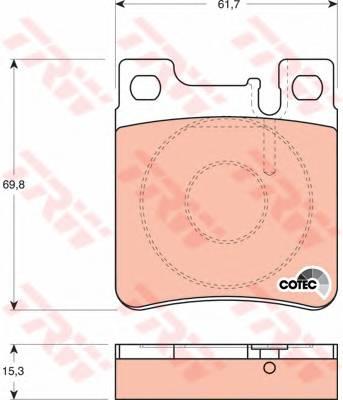 Тормозные колодки Тормозные колодки дисковые PAGID арт. GDB1123