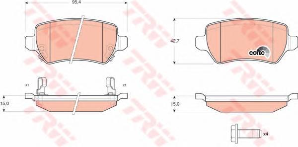 Тормозные колодки Тормозные колодки дисковые PAGID арт. GDB1515