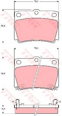 Тормозные колодки Тормозные колодки дисковые PAGID арт. GDB3239
