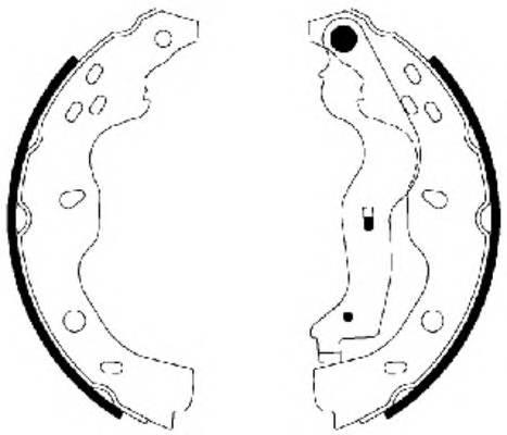 Тормозные колодки Тормозные колодки барабанные ABE арт. 91067500