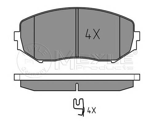 Тормозные колодки Тормозные колодки дисковые ABE арт. 0252434617W
