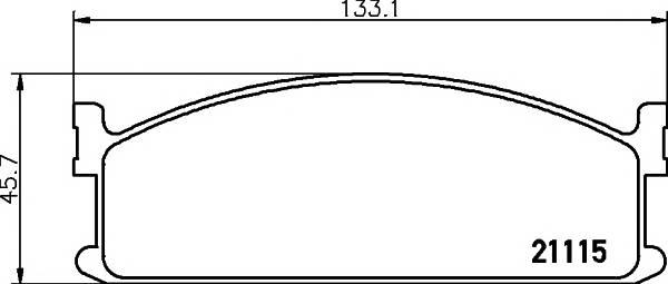 Тормозные колодки 21115/16,0мм Тормозные колодки PAGID PAGID арт. T0337