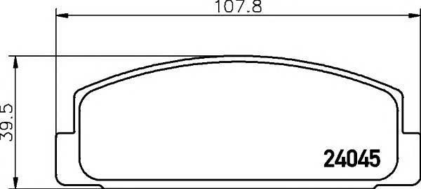 Тормозные колодки 24045/13мм Тормозные колодки PAGID PAGID арт. T1428