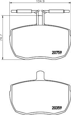 Тормозные колодки 20759/18,0мм Тормозные колодки PAGID PAGID арт. T0559