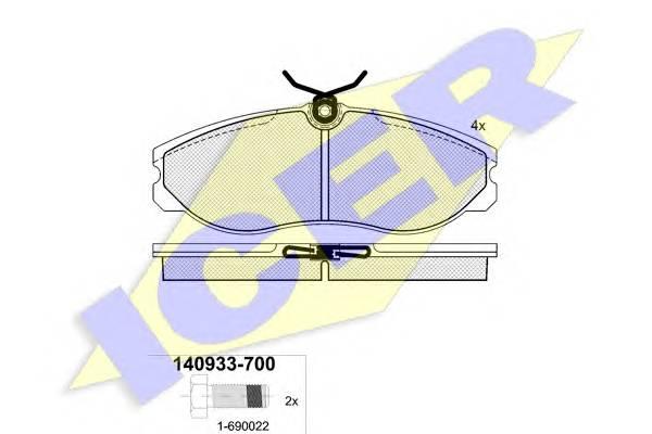 Тормозные колодки Тормозные колодки дисковые PAGID арт. 140933700