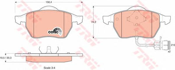 Тормозные колодки Тормозные колодки дисковые PAGID арт. GDB1049