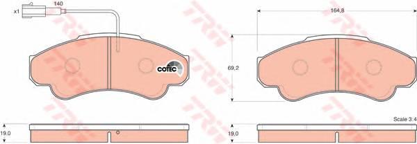 Тормозные колодки Тормозные колодки дисковые PAGID арт. GDB1518