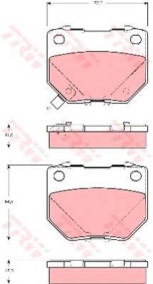 Тормозные колодки Тормозные колодки дисковые PAGID арт. GDB3308