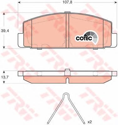 Тормозные колодки Тормозные колодки дисковые PAGID арт. GDB3311