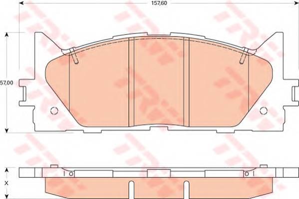 Тормозные колодки Тормозные колодки дисковые ABE арт. GDB3429