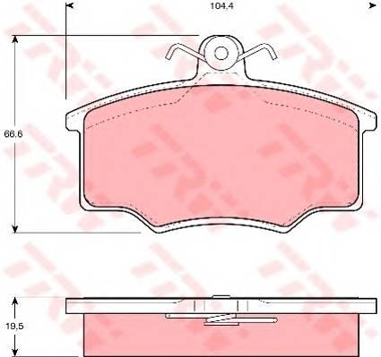 Тормозные колодки Тормозные колодки дисковые PAGID арт. GDB863