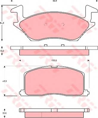Тормозные колодки Тормозные колодки дисковые PAGID арт. GDB878
