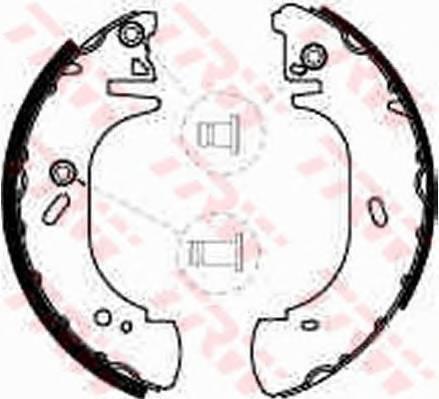Тормозные колодки Тормозные колодки барабанные PAGID арт. GS8540