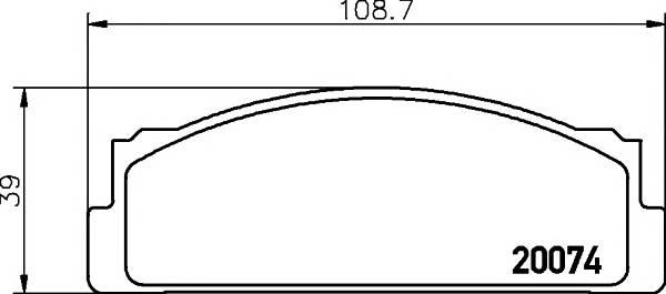 Тормозные колодки Тормозные колодки дисковые TEXTAR арт. 2007404