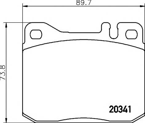 Тормозные колодки Тормозные колодки дисковые PAGID арт. 2034110