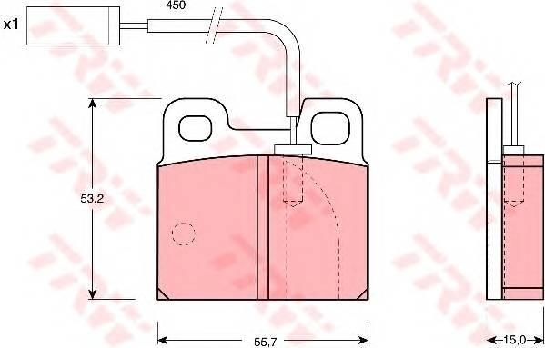Тормозные колодки Тормозные колодки дисковые PAGID арт. GDB1250