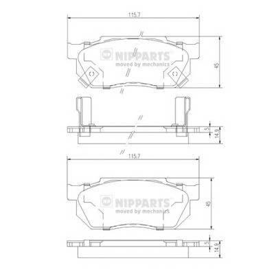 Тормозная система Гальмiвнi колодки, к-кт. PAGID арт. J3604019