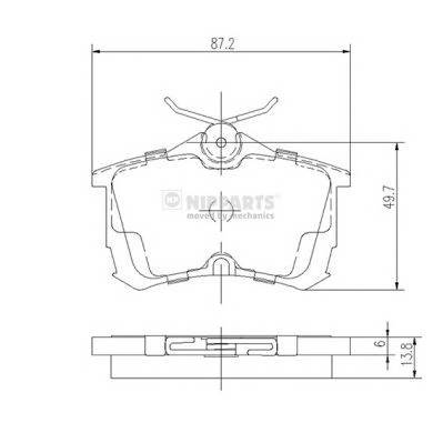 Тормозная система Гальмiвнi колодки, к-кт. PAGID арт. J3614015