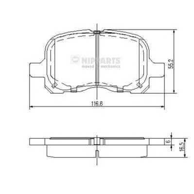 Тормозная система Гальмiвнi колодки, к-кт. PAGID арт. N3602129