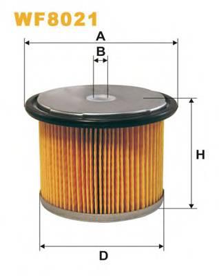 Фильтр топливный (PM 858) BOSCH арт. WF8021