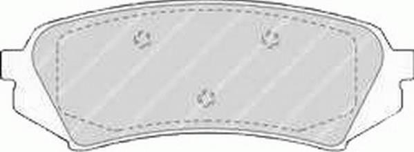 Тормозные колодки Тормозные колодки Ferodo PAGID арт. FDB1457