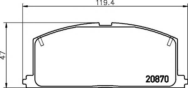Тормозные колодки 20870/15,0мм Тормозные колодки PAGID PAGID арт. T0318