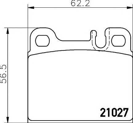 Тормозные колодки 21027/15,5мм Тормозные колодки PAGID PAGID арт. T1118