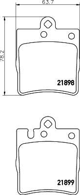 Тормозные колодки 21899/15,7мм Тормозные колодки PAGID PAGID арт. T1152