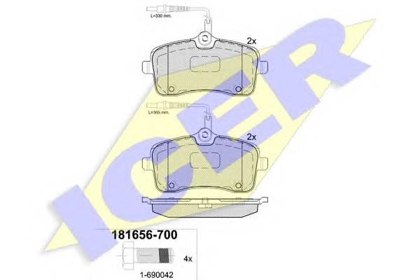 Тормозные колодки Тормозные колодки дисковые PAGID арт. 181656700