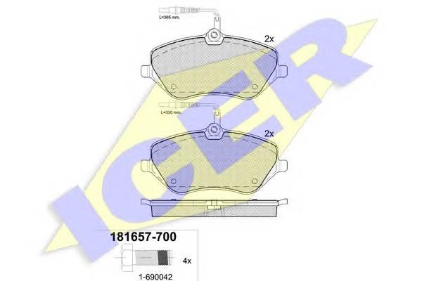 Тормозные колодки Тормозные колодки дисковые ABE арт. 181657700