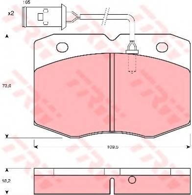 Тормозные колодки Тормозные колодки дисковые ABE арт. GDB1111