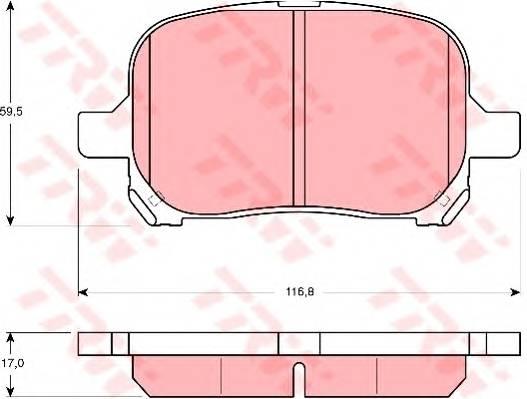 Тормозные колодки Тормозные колодки дисковые ABE арт. GDB3152