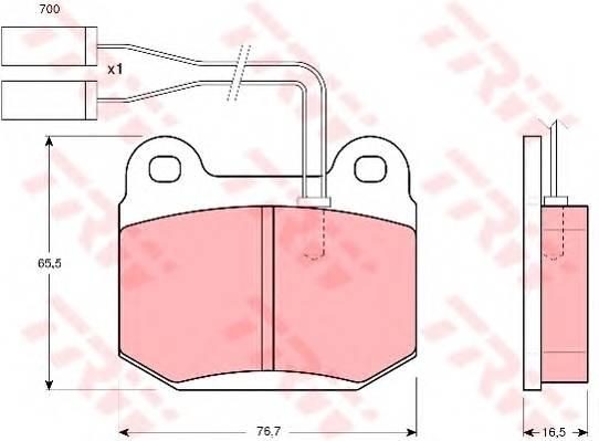 Тормозные колодки Тормозные колодки дисковые PAGID арт. GDB364