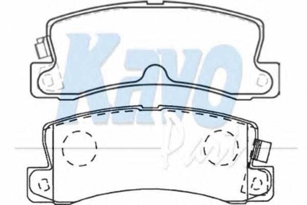 Тормозные колодки Тормозные колодки дисковые KAVOPARTS арт. BP9059