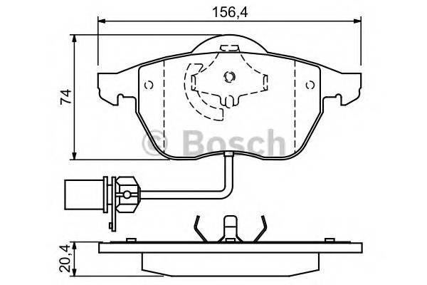 Тормозная система Гальмiвнi колодки, к-кт. PAGID арт. 0986424482