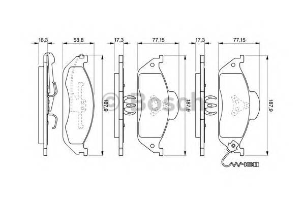 Тормозные колодки Тормозные колодки Bosch PAGID арт. 0986424611