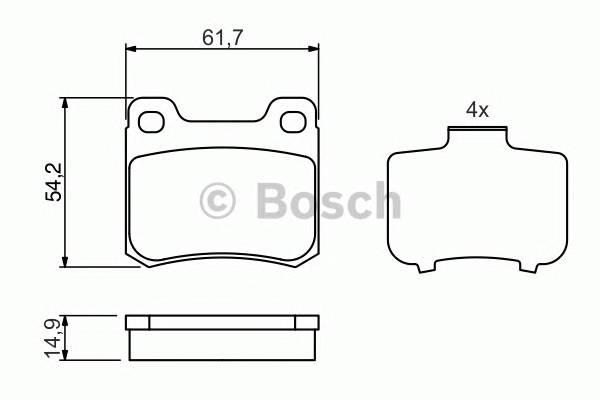 Тормозные колодки Тормозные колодки Bosch PAGID арт. 0986466871
