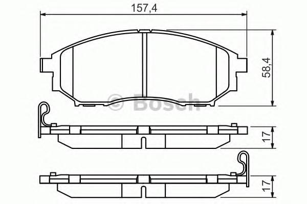 Тормозные колодки Тормозные колодки Bosch ABE арт. 0986494295