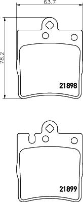 Тормозные колодки Тормозные колодки дисковые TEXTAR PAGID арт. 2189801